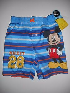 a150eb4aa3 Disney Mickey and the Roadster Racers Boys Size 4T Blue Swim Trunks ...