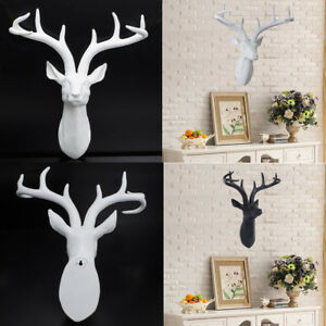 Wall Mounted Stag Deer Head Modern Handmade Antler Hang Home Decor Various Color