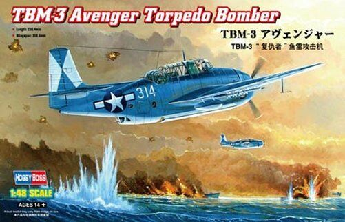 80325 Trumpeter TBM-3 Torpedo Bomber Fighter Aircraft 1 48 Model Airplane