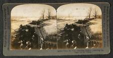 KEYSTONE STEREOVIEW WWI MILITARY AMERICAN SOLDIERS BUGLE CALL TO CHARGE GUNS
