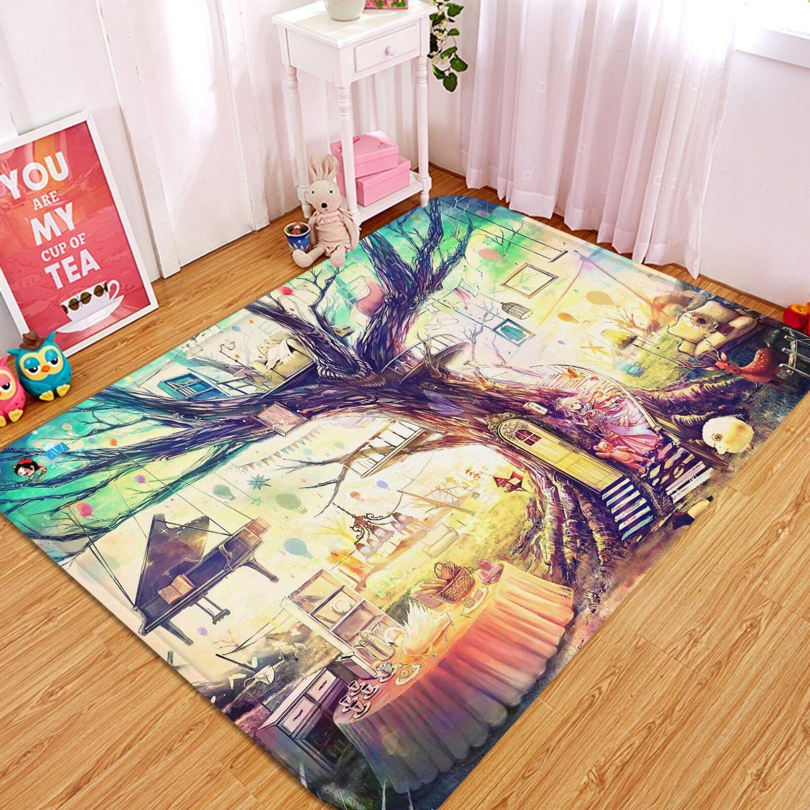3D Painted Tree 572 Non Slip Rug Mat Room Mat Quality Elegant Photo Carpet AU
