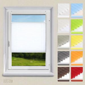 Plissee-Klemmfix-Faltrollo-ohne-Bohren-Jalousie-Fenster-Rollos-Weiss