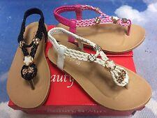 61391bea3da7 item 2 Girl Sandals Slingback Flat Flip Flops Thong With Elastic Ankle Strap  Size 10 -4 -Girl Sandals Slingback Flat Flip Flops Thong With Elastic Ankle  ...