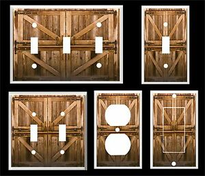 Image Is Loading Rustic Country Barn Doors Light Switch Cover Plate