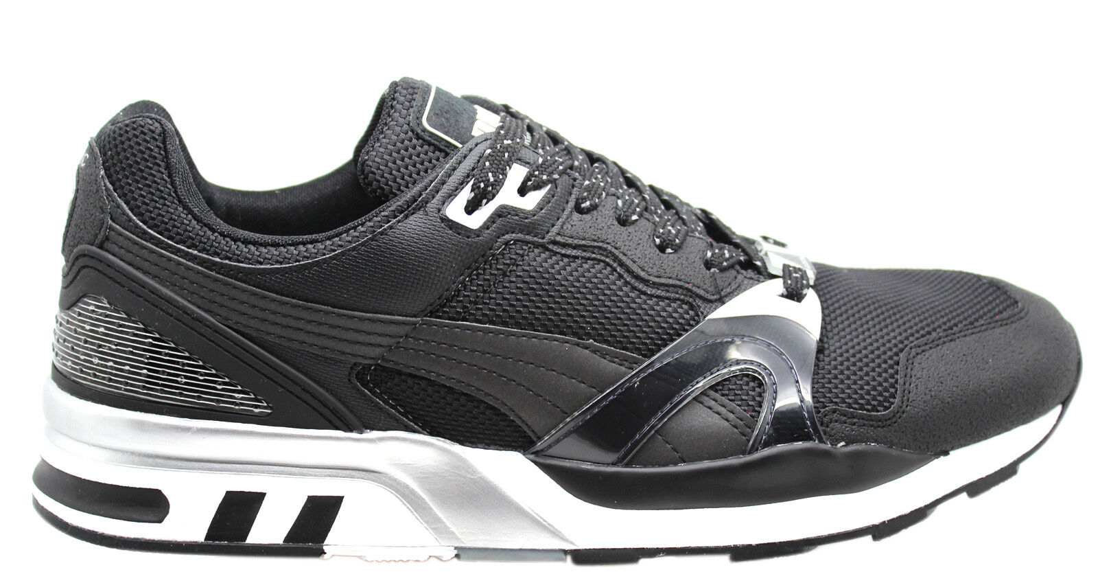 outlet store 25b10 a2351 Puma Trinomic XT 2 Plus Tech Mens Trainers Black Mesh Lace Up