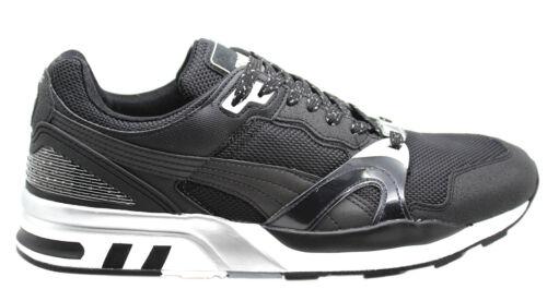 Puma Trinomic XT 2 Plus Tech Mens Trainers Black Mesh Lace Up 357006 01 D35