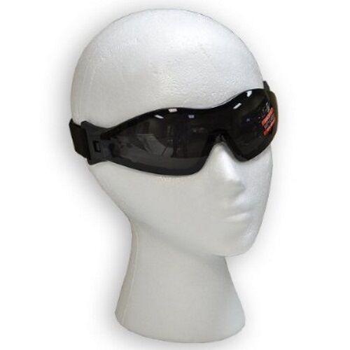 2 Motorcycle Off Road Z87 Goggles PADDED Googles Clear /& Smoke Anti Fog Biker