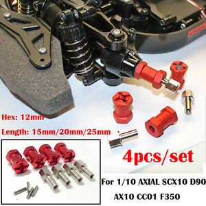 12mm-hexagonal-rueda-Extensores-15-20-25mm-acopladores-para-1-10-AXIAL-SCX10-D90-AX10-CC01