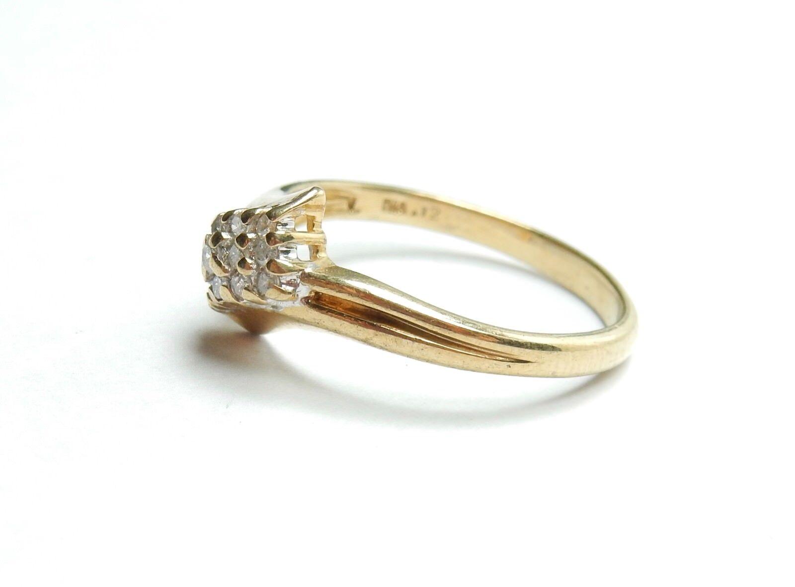 Anello di diamanti 9 KT CARATO oro oro oro Cluster N 1.82 G e4eff0