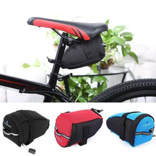 Bicycle MTB Cycling Reflective Saddle Bag Tail Rear Pannier Pouch Seat Bag