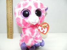 f6d694efd67 Authentic Ty Beanie Boos X 2 Giraffe Safari   Twigs Pink Purple Glitter Eyes