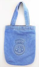 BLUE JEAN DENIM EMBOSSED Tote Bag Purse - Nurse Doctor Smiley Face Medical Bag
