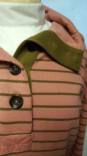 Joules Chalgrove Dusty pink and brown stripe Sweatshirt Size 10