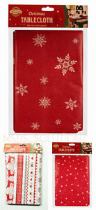 Image Is Loading CHRISTMAS TABLE COVER 132X178CM LARGE PEVA TABLECLOTH XMAS