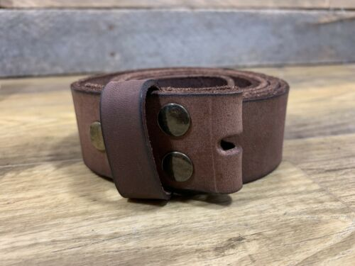 """Mens Genuine Leather Belt with Painter /& Decorator Buckle Brown 38/"""" Waist"""