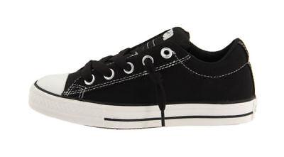 Converse All Star Chuck Taylor Street OX Black White 626090F Kids Shoes Canvas   eBay