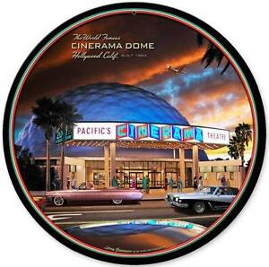 Details about Cinerama Dome Theatre Hollywood California Metal Sign Man  Cave Wall Decor LG360