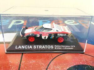 1/43 Scale Lancia Stratos Rallye Sanremo  1978, Driven By M.Alen Altaya
