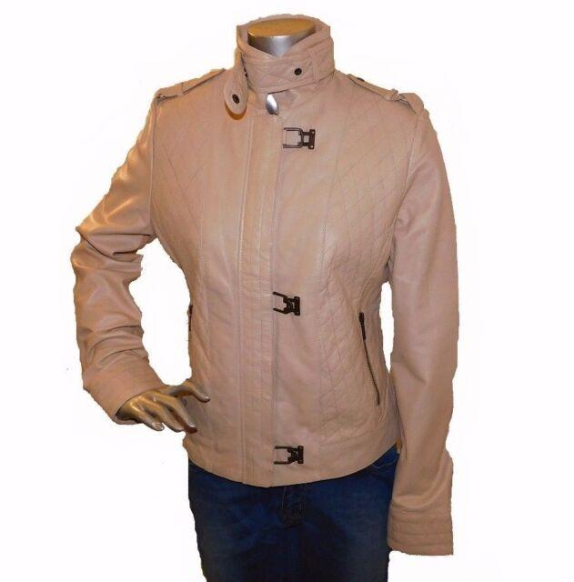 Women/'s Genuine Lambskin Leather Motorcycle Slim fit Designer Biker Jacket K096