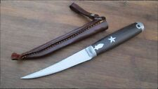 FINE Antique GOODELL Curved Hunting Skinning Knife w/Star Inlay - RAZOR SHARP