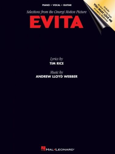 Evita Sheet Music Vocal Selections NEW 000120077