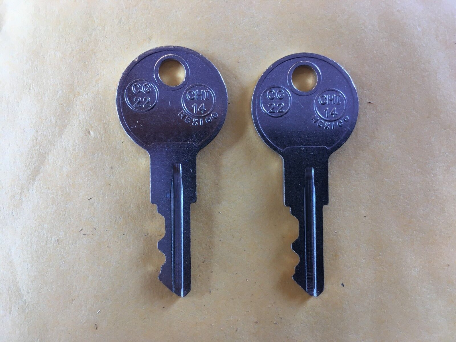 2 KEYS CRAFTSMAN TOOL BOX LL001-LL225 (LL1W-LL225W & LL1H-LL225H) toolbox key