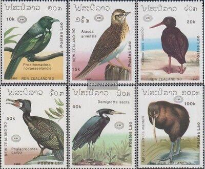 kompl.ausg. Laos 1220-1225 Postfrisch 1990 Vögel
