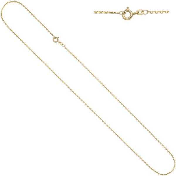 1,2mm Ankerkette Kette Collier Aus 585 Gelbgold Gold Halskette 38cm, Goldkette
