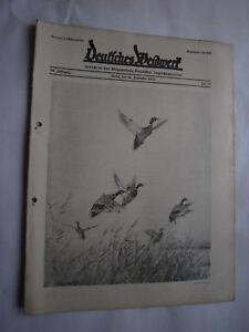 """Antiquitäten & Kunst Jagdzeitung""""deutsches Weidwerk""""38.jahrgang,heft 22 Von 1933,jagd,jagdhund,pirsch"""