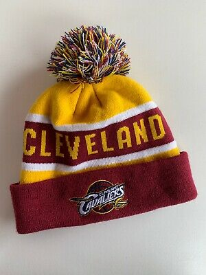 Cleveland Adult Pom Pom Beanie Winter Knit Hat NEW!