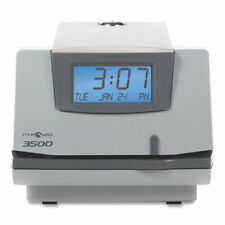 3500 Time Clock And Document Stamp Lcd Display Light Graycharcoal Total
