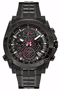 Bulova-Men-039-s-98B257-Precisionist-Chronograph-Black-Stainless-Steel-Watch