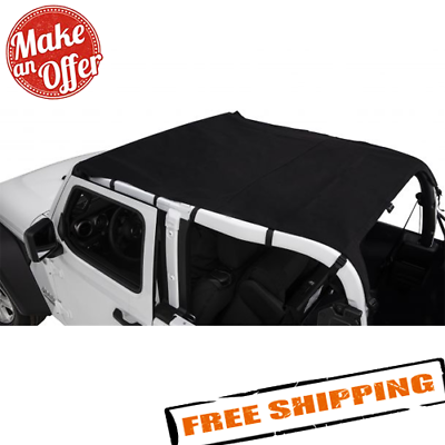 RAMPAGE PRODUCTS 990040 Windbreaker for 2018 Jeep Wrangler JL Sport 2-Door