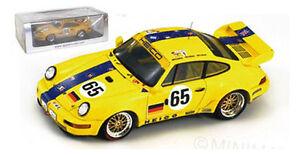 Spark S2076 Porsche 911 Carrera n ° 65 Le Mans 1993 - Wlazik / richter / ebeling 1/43