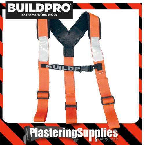 BuildPro Shoulder Brace Adjustable Padded ORANGE FLURO LBHAO