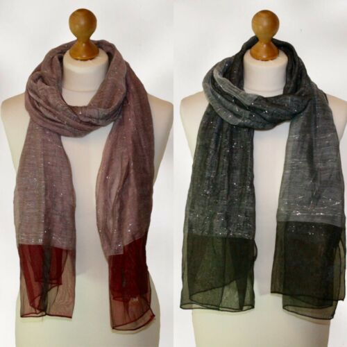 WHOLESALE job lot of ladies WIDE fancy scarf scarves sparkly red /& BLACK £1.20