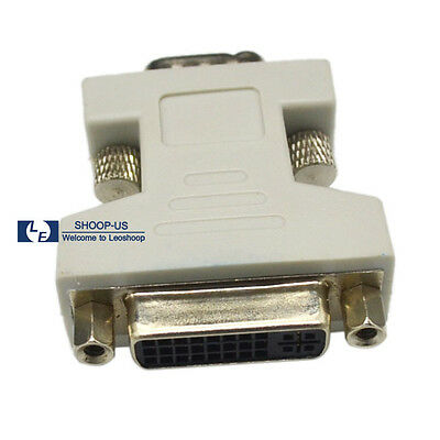 NEW DVI-I Female Analog Connector Adapter to VGA Male 24+5 15-pin