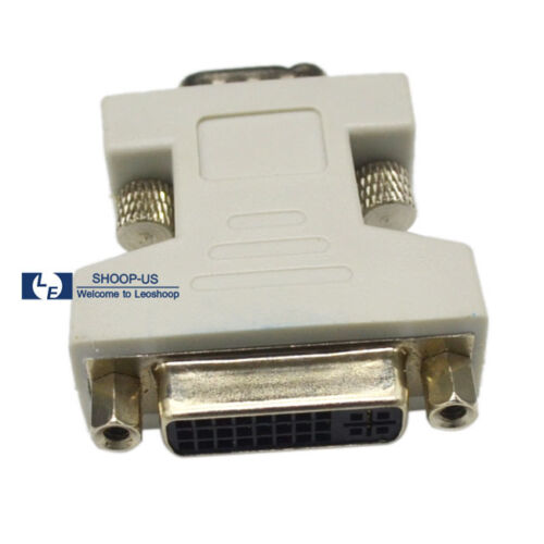 New DVI-I Female Analog 15-pin to VGA Male Connector Dual Link Adapter 24+5