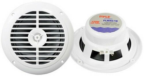 "Pyle PLMR67W 6.5/"" Hydra Marine Speakers White 120W Max"