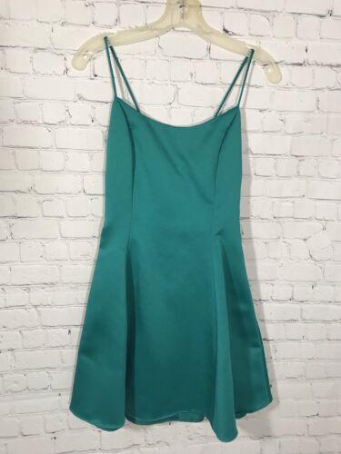 VTG 90s Jessica McClintock Gunne Sax Turquoise Coc