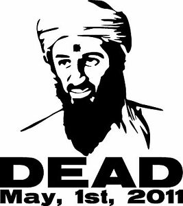 Osama Bin Laden Decal Sticker Navy Seals Marines