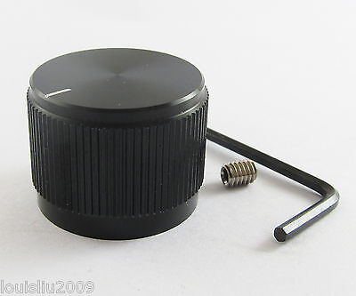 1pc High Quality Black Color Aluminum Audio Rotary pots Knob 25mm x 19mm NEW