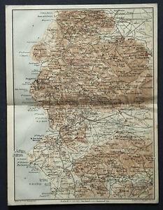 Cartina Antica Sardegna.1925 Antica Topografica Sardegna Iglesias Villacidro Guspini Portoscuso Vallardi Ebay