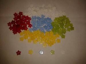 50 Star Baby//Children/'s Buttons 15 mm 2-hole Colours Red Yellow White Green Blue