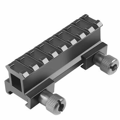 8-Slot Base Riser Adapter 21MM Picatinny Weaver Rail Scope Mount Rail For Laser