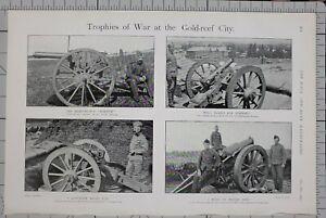 1901-PRINT-TROPHIES-OF-WAR-AT-GOLD-REEF-CITY-VICKERS-MAXIM-KRUPP-GUN-HOWITZER