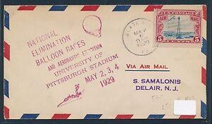82587) Ballonpost USA National B.Race Pittsburgh 2.5.29, cover - 32257 Bünde, Deutschland - 82587) Ballonpost USA National B.Race Pittsburgh 2.5.29, cover - 32257 Bünde, Deutschland