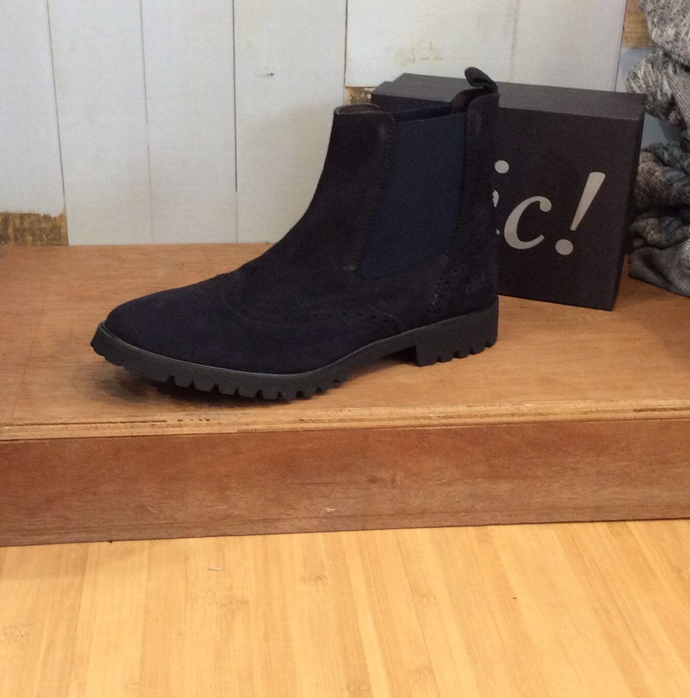 Clic! Schuhe neue Kollektion Damen Chelsea Budapester Muster CL 7112 Gr. 36 - 41