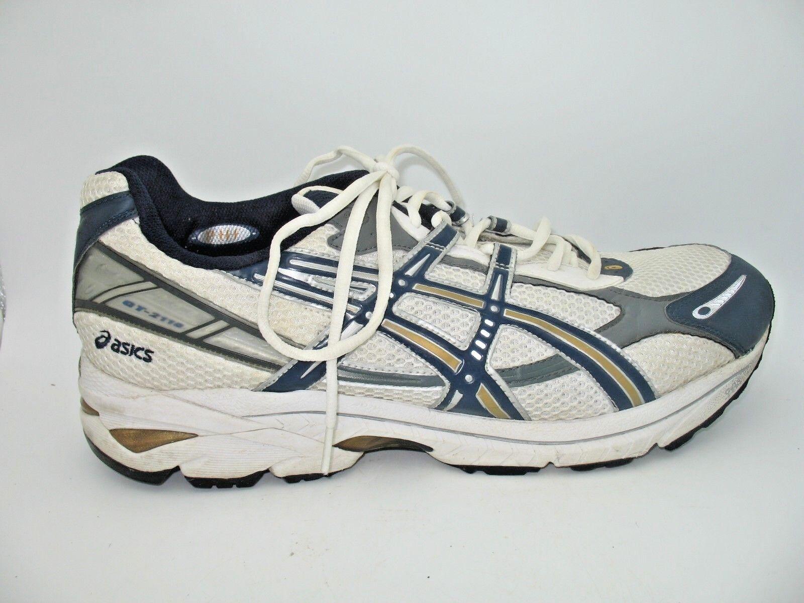 Asics GT 2110 White Running Athletic Training Sneaker shoes Mens 15 M