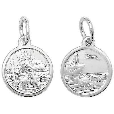 2019 Mode St Christopher Solid Silver Double Sided 13mm Keine Kostenlosen Kosten Zu Irgendeinem Preis